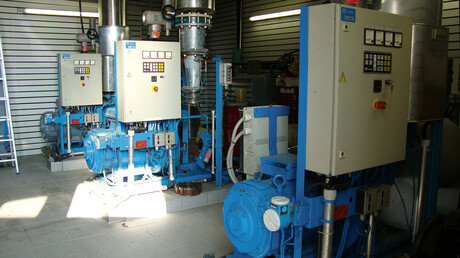 Replacement of the old compressed air system with Kaeser air centre at a wastewater treatment plant in Manching.