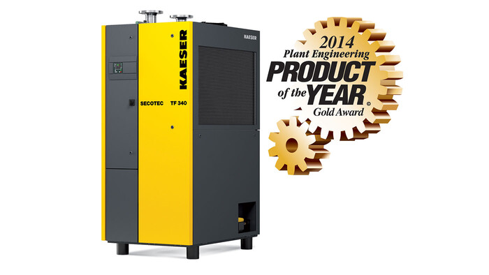 Secotec TF refrigeration dryer wins gold