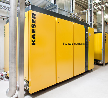 Oil-free screw compressor at Ammerland.