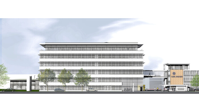 Computer animation of the new administration building at Kaeser Kompressoren